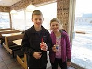 After graduating from peanut oral immunotherapy (OIT), Soren and Tessa enjoyed their first DQ Blizzard Treats.
